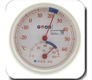 Mini Indoor Wall Thermometer Temperature Wet Hygrometer