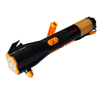Multifunctional emergency flashlight in car