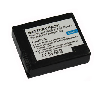 Replacement Battery 7.4V 750mAh for Sony NP-FF50/FF51/FF51S Series