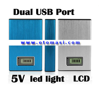 5V Dual USB Port Mobile Power Bank with 12000mAh, Out 5V 1000mA, Power LED Indicate (NS-12000B)