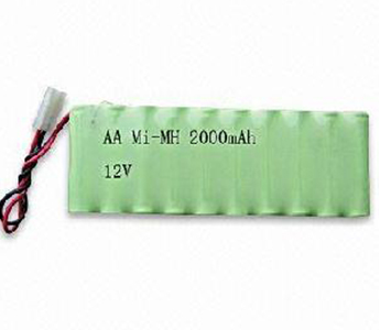 NiMH AA 12V 2000mAh Battery Pack