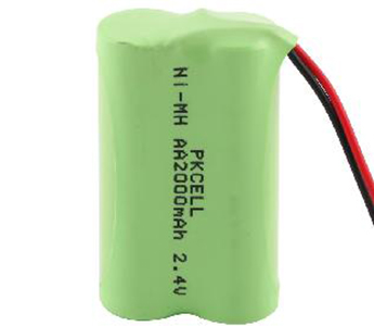 NiMH AA 2.4V 2000mAh Battery Pack