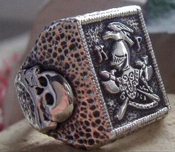 Original  AJS  KnightS OF Pythias Ring Sterling Silver 925 Degree - S37