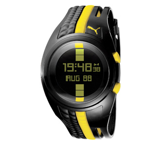 PUMA Men's PU910471001 Shift Black and Yellow Digital Watch