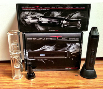 Pinnacle PRO DLX Portable Vaporizer with Hydrotube Water Tool by Vaporblunt