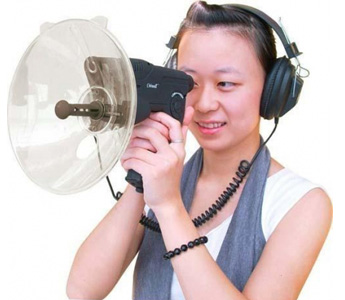 100 Meters Sound Distance + Boom Headphone Sound Detector, Model QT-100