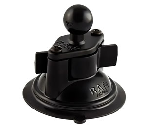 RAM Mount Locking Suction Cup with 1.0 inch Ball Metal Plate