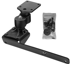 No-Drill™ Laptop Base with Adjust-A-Pole™ for the Dodge RAM 1500-5500 (Recommended for 2012 Models)