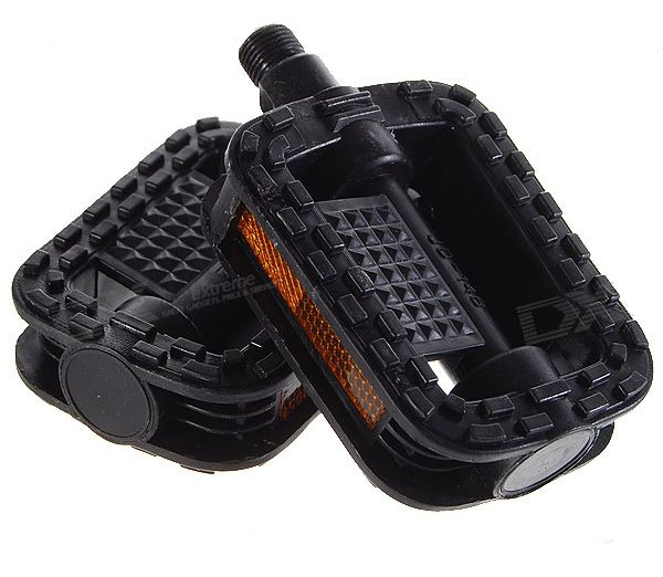Replacement Plastic Bicycle Pedal (Pair / Black) type 4