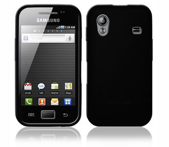 Amzer Soft Gel TPU Gloss Skin Case - Black For Samsung Galaxy Ace S5830