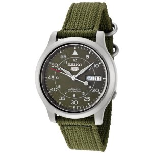 Seiko SNK805K2 Automatic Green Dial Green Fabric Strap Watch