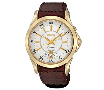 Seiko Men's SNQ118 Premier Perpetual Calendar Watch In Original Box