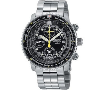 Seiko SNA411 Flight Alarm Chronograph Watch