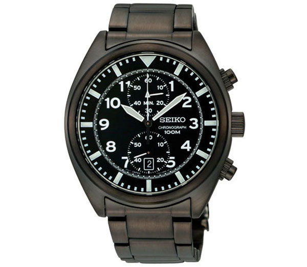 Seiko SNN233 Chronograph Black Dial Watch