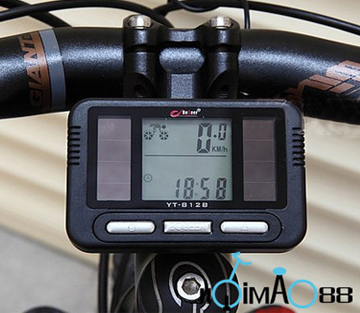 Solar Energy Cycling Bicycle LCD Computer Odometer Speedometer
