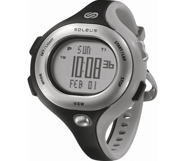 Soleus Women's SR009005 Chicked Grey Digital Dial with Black and Grey Polyurethane Strap Watch