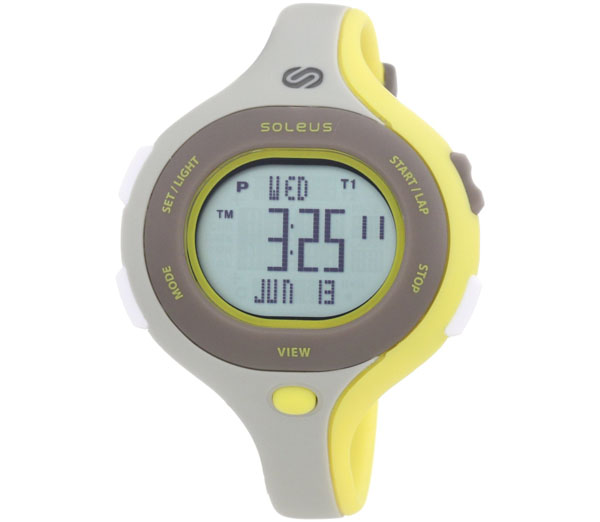 Soleus Women's SR009072 Chicked Grey Digtial Dial with a Yellow and Grey Polyurethane Strap Watch