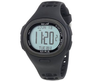 Soleus Unisex SH002201P Surge X Black Heart Rate Monitor Sports Watch