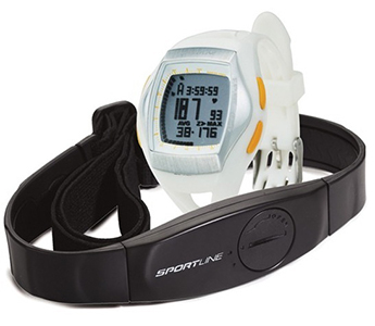 Sportline DUO 1060 Women's Heart Rate Monitor Watch w/ Chest Strap