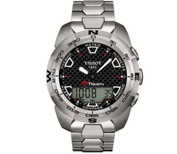 Tissot Men's T0134204420100 T-Touch Expert Titanium Analog-Digital Watch
