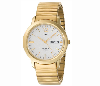 Timex Men's Classic Dress Expansion Gold-Tone Stainless Steel Bracelet Watch (T21942)