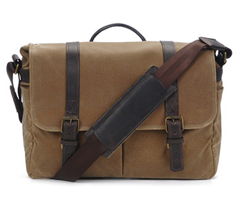The Brixton Camera and Laptop Messenger Bag (Field Tan)