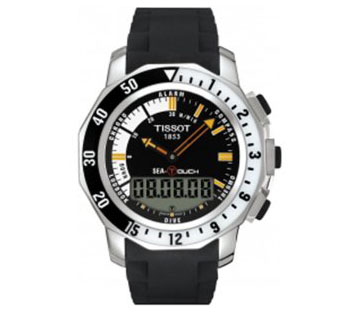 Tissot T0264201728100 Sea Touch In Meter Black Dial Watch