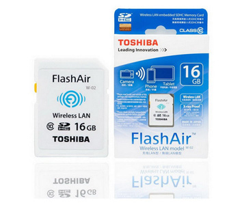 Toshiba Flash Air 16GB Class 10 Wireless Memory Card Wifi SD Card