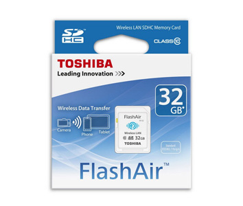 Toshiba Flash Air 32GB Class 10 Wireless Memory Card Wifi SD Card for PC Laptop
