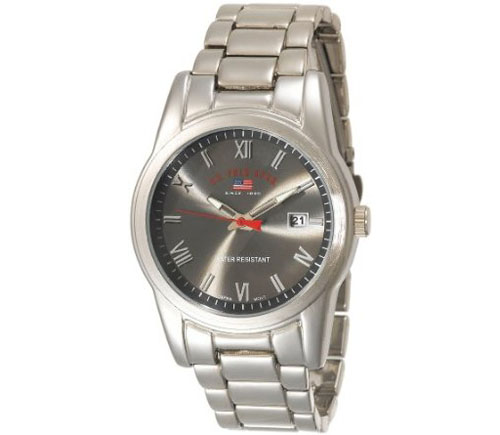 U.S. Polo Assn. Men's US8002 Silver-tone Sporty Bracelet Watch