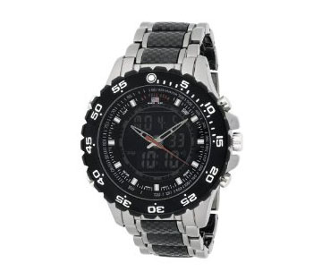 U.S. Polo Assn. Men's US8170 Analog-Digital Black Dial Gun Metal