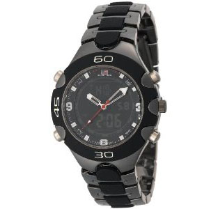 U.S. Polo Assn. US8083 Gun Metal/Black Plastic Analog-Digital Sp