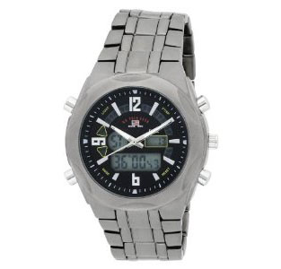 U.S. Polo Assn. Men's US8297 Analog-Digital Black Dial Gun Metal