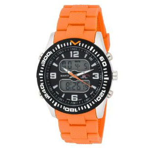 U.S. Polo Assn. Men's US9039 Analog-Digital Black Dial Orange Ru