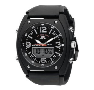 U.S. Polo Assn. Men's US9052 Analog-Digital Black Dial Black Rub