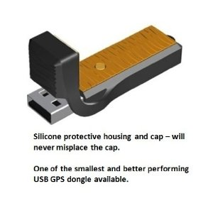 USB GPS Navigation Dongle GD-1201 with Silicone Housing
