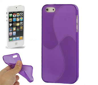 Windmill Lines TPU Case for iPhone 5 (Purple)