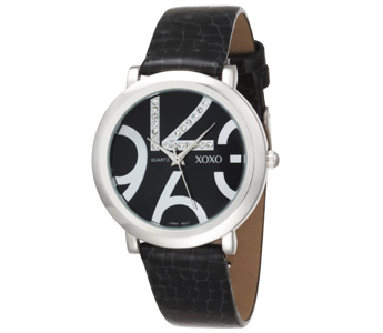 XOXO Women's XO3191 Black Dial Black Snake Strap Watch