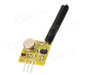 ZSD-T3 433MHz ASK High Power RF Transmitter Module - Yellow
