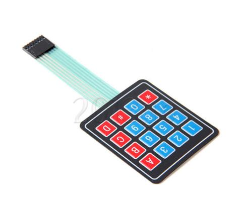 Adhesive Specialty 4x4 Matrix Array 16 Key Membrane Keypad