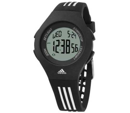 Adidas Furano Black Plastic Quartz Watch with Black Dial