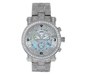 Aqua Master Men's Power One-Row Diamond Watch with Four-Link Ful