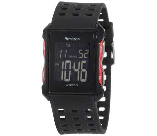 Armitron 408177RED Chronograph Black and Red Digital Sport Watch